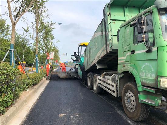 海湾路中修工程如期完工